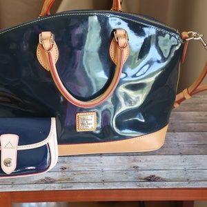 Dooney & Bourke Patent Satchel Bag